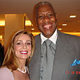 Lorre White and Vogue Magazine's Andre Leon Talley