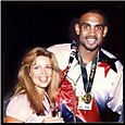 Lorre White and Olympic Dream Team Star Grant Hill