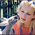 Lorre White gets a kiss in Australia