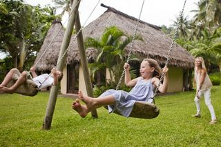 Kids having fun on Laucala Island, South Pacfic