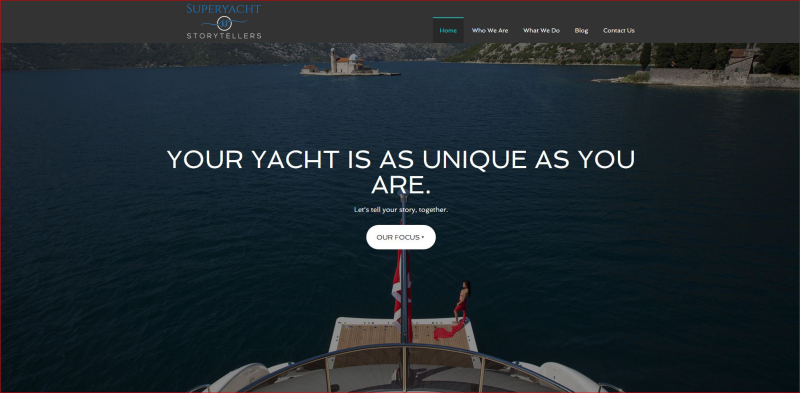 Superyacht Storytellers homepage