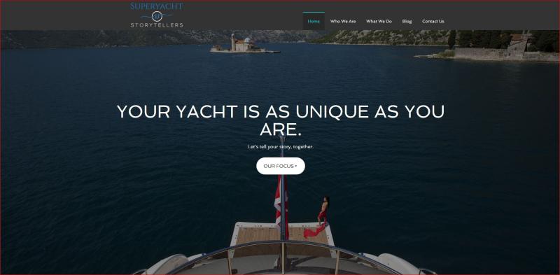 Superyacht Storytellers homepage