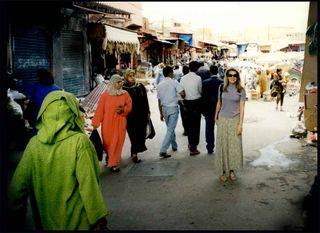 Lorre White, The Luxury Guru, shopping in Morocco