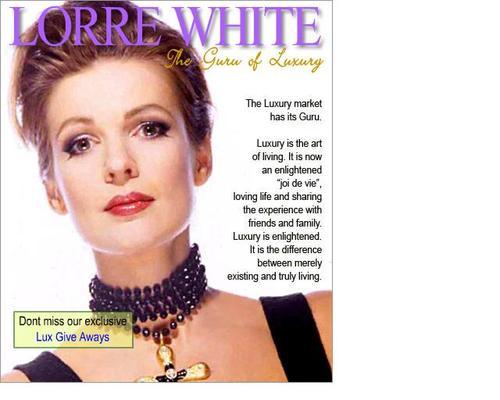 Cover of Lorre's Luxury Guru Fan site.