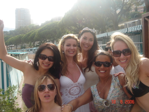 Lorre with friends at the Sea Lounge in Monaco